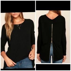Lulus size S zipper back sweater